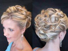 Wedding hair updo! Sara's wedding up do ideas!