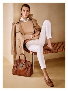 Ralph Lauren camel and winter white