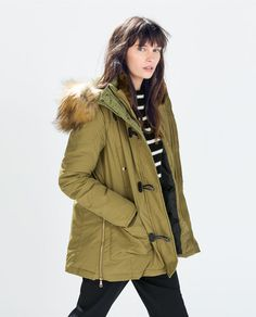 Image 3 of PARKA WITH TOGGLES from Zara
