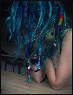 Peacock color hair..kh