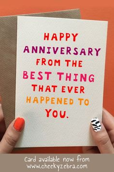 This humor based anniversary gift is the perfect way to say I love you to your boyfriend, husband, wife or girlfriend. Available from our Etsy store CheekyZebraCardShop or Anniversary Cards For Boyfriend, Birthday Cards For Girlfriend, Funny Anniversary Cards, Anniversary Gifts For Parents, Anniversary Gift Ideas For Him Diy, 2 Month Anniversary, Anniversary Dinner, Wedding Anniversary, Valentines Day Card Funny