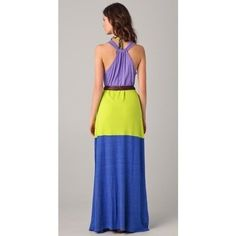This colorblock maxi tank dress is perfect for the beach!