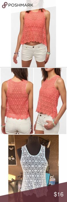 Pins and Needles Daisy Lace Swing Tank This tank straight from Urban Outfitters is the perfect easy top for warm sunny days! Only worn once! Great condition! Will accept offers. The o e for sale is the baby blue one Urban Outfitters Tops Tank Tops