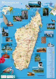Madagascar Tourisme •▷ Voyages - Cartes