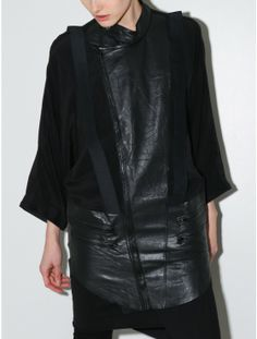 Horace silk crepe biker jacket black