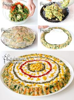 Tart Kalıbında Patates Salatası Tarifi potato al horno asadas fritas recetas diet diet plan diet recipes recipes Crab Stuffed Avocado, Light Summer Dinners, Cottage Cheese Salad, Tart Molds, Tomato Vegetable, Food Decoration, Turkish Recipes, Easy Salads, Food Design