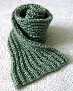 Écharpe à côtes perlées