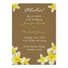 Hawaiian Wedding Invitation #destinationwedding #destination #wedding #hawaiian #beach
