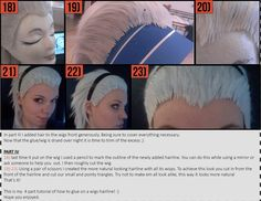 'How to glue on a fake hairline to your wig' Masterpost Hello all you cosplay fanatics :3 I already postet these short photo tutorials one at a time, but now that the WIP/tutorial is complete I guess...