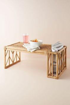 Briony Breakfast Tray by Anthropologie in Beige, Decor Breakfast Tray, How To Make Breakfast, Bamboo Furniture, Furniture Design, Furniture Projects, Diy Furniture, Bed Tray, Room Wall Decor, Bedroom Decor