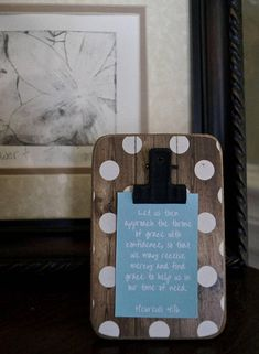 Mini Verse of the Week Clip Frame  Free Shipping  Scripture