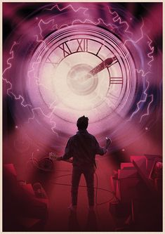 Geeky art collection - 5 mystery prints - Back to the Future Marty Mcfly, Clock Art, Owl, Alternative Movie Posters, Geek Art, Back To The Future, Texture Art, Chucky, Predator
