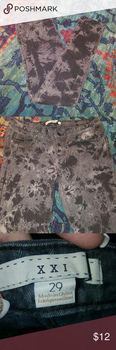 Skinny Jeans Cute skinny jeans. Worn but is great shape. XXI Jeans Skinny
