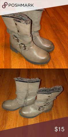 Boots Like new. Too small for me so only worn a couple times. Mossimo Supply Co Shoes Combat & Moto Boots
