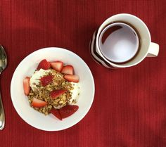 Home made crunchy granola is fabulous