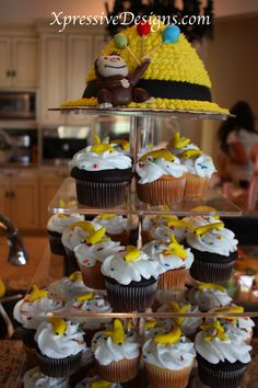 Curious George Cake and cupcakes!