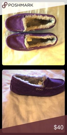UGG purple Moccasin comfy slippers UGG Shoes Moccasins