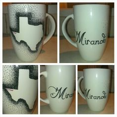 DIY mug - Gift for sister, Miranda, El Paso (home) marked on state