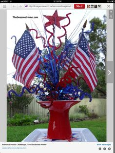 Another patriotic centerpiece idea