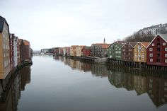 Old storehouses along the Nidelva River | Trondheim, Norway | No Apathy Allowed