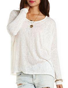 Oversized Dolman Sleeve Top: Charlotte Russe
