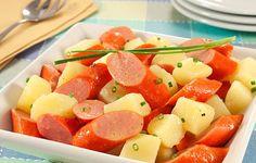 Salada Quente de Batata e Salsicha