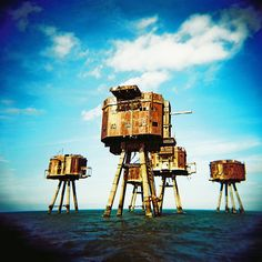 The Maunsell Sea Forts, North Sea.