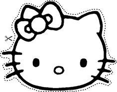 Caretas y máscaras de hello kitty para recortar y colorear
