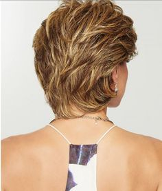 Wear this heat friendly synthetic wig for easy styling! Gratitude by Eva Gabor Wigs is a comfortable wig choice for women with hair loss. Short Shag Hairstyles, Short Layered Haircuts, Short Hairstyles For Women, Medium Layered Hairstyles, Short Layered Curly Hair, Wavy Pixie, Teenage Hairstyles, Haircut Short, Short Hair Wigs