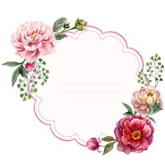 Scrapbook, craft, printables, flowers, illustration