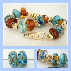 New Turquoise With Amber and the gold Trollbeads are sensational!  Thank you for sharing Angela!