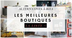 La listes des meilleures boutiques alternatives à IKEA pour votre décoration et vos meubles