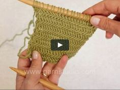 In this DROPS video we show how to knit the herringbone stitch. This pretty herringbone texture is not as complicated as it may look. The classic texture is perfect… knit How to knit herringbone stitch Knitting Stiches, Knitting Videos, Loom Knitting, Knitting Patterns Free, Crochet Stitches, Knit Crochet, Knitting Needles, Free Knitting, Herringbone Stitch Knitting