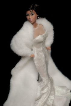beautiful white fur & gown