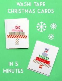 How to make washi tape Christmas cards in five minutes