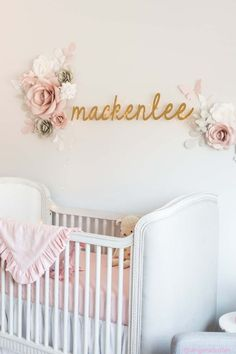 MacKenlee Faire Lanter baby girl pink and grey gray nursery reveal baby room bedroom neutral angela lanter hello gorgeous home decor inspo inspiration Cream Nursery, Pink And Gray Nursery, Blush Nursery, Gold Nursery, Nursery Room, Nursery Ideas, Nursery Decor, Nursery Twins, Bedroom