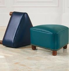 The Trista Triangle Leather Ottoman makes a handsome addition anyway you look at it. This ottoman is a beautiful way to punctuate a room.