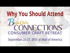 Why you should attend Bella Crafts Connections....we are bringing in 24 instructors from all over the globe to teach at this event....Mixed Media Artist, Authors, Licensed Designers, TV Personalities and more....you won't want to miss this retreat!  Enjoy a 3-day weekend retreat filled with inspiring workshops!