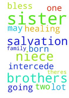 I request prayers for salvation and - I request prayers for salvation and healing for my sister, two brothers and niece. My sister is born again but my brothers and niece are not. theres a lot going on in my family please intercede for them. Thank you all and may the Lord bless every one of you. Posted at: https://prayerrequest.com/t/o7W #pray #prayer #request #prayerrequest