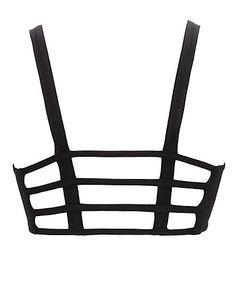 Caged Back Cotton Bralette