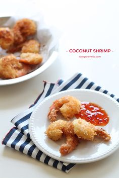 How to make Coconut Shrimp at home! This recipe for crispy coconut shrimp makes a delicious appetizer OR main dish and only takes 5 minutes to cook! | LoveGrowsWild.com