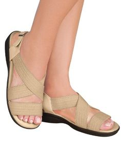 a1b97625d7cd1f Crisscross Comfort Strap Sandals Color Bone Size 11 W    Find out more  about the great product at the image link. (This is an affiliate link)