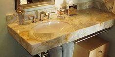 Dank #Naturstein #Waschtischen können Sie sich den Traum vom modernen Badezimmer erfüllen. #Waschtischplatten  http://www.granit-treppen.eu/naturstein-waschtische-charmante-naturstein-waschtische