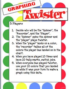 Grade 3 maths: Graphing Twister