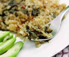 Rice with Swiss chard -אורז עם עלי מנגולד Culinary Arts, Rice Recipes, Pasta Salad, Risotto, Ethnic Recipes, Blog, Crab Pasta Salad, Blogging