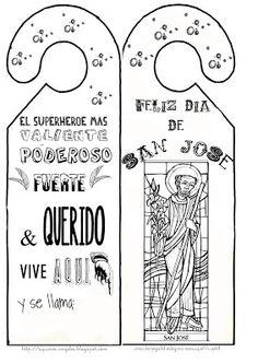 Si quieres aprender, ENSEÑA.: Mi regalito de San José. St Joseph, First Communion, 4 Kids, Marriage, Bullet Journal, Teaching, Education, Dic, Spanish