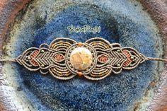 Bracelet macramé « Embrace Your intérieure sauvage » avec Jasper Leopardite, Agate et laiton perles
