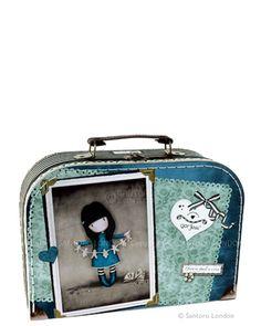 Medium 'suitcase' box - I found my Family in a Book, Santoro's Gorjuss