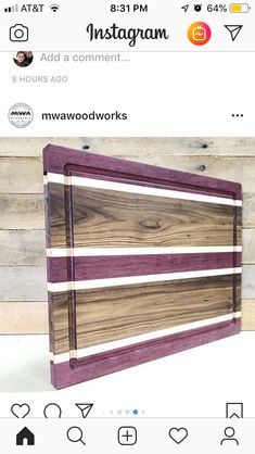Woodworking Guide, Woodworking Patterns, Custom Woodworking, Woodworking Projects Plans, Teds Woodworking, End Grain Cutting Board, Diy Cutting Board, Wood Cutting Boards, T 64