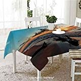 Dining Kitchen Polyester dust-Proof Table Cover,Driftwood Decor,Driftwood on a Lake at Sunset Landscape Cloudy Sky Digital Image,Sky Blue and x 59 inches - Driftwood 4 Us Sky Digital, Digital Image, Driftwood Kitchen, Sunset Landscape, Table Covers, Product Description, Outdoors, Indoor, Dining